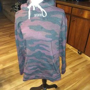 Vs pink sherpa hoodie